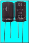 [2szt] 220uF 100V LOW IMPEDANCE KMF100VB220M16X25 NIPPON