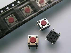 [50szt] TSSA3L Tact Switch SMD 6x6x4,3mm HUA JIE