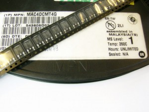 [10szt] MAC4DCMT4G Triack 600V 4A SMD DPAK ON SEMICONDUCTOR